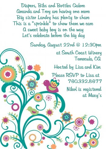 baby sprinkle baby shower invitations